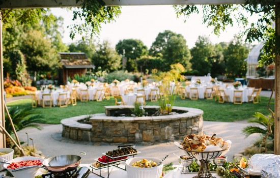 Reception on the Events Lawn. Photo credit: Jeremny Russell Photography.