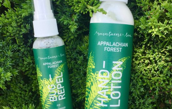 Available in a 6-ounce hand lotion and a 2-ounce forest body spray (bug repel), the Forest Collection is built on the scents of the wild Appalachian forest to empower forest-goers with outdoor protection and bring the memory of days spent wandering the woodlands to your days indoors.  Appalachian Forest is a high-elevation fragrance of the dappled light under the soft new growth of evergreens. Native firs and hemlock needles are at once crisp and cool, fading to soft mossy undertones. Cedarwood and clary sage echo the sweetness and depth brought by stillness in a forest sanctuary.